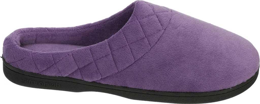 Women's Dearfoams Darcy Microfiber Velour Clog Slipper, Smokey Purple, large, image 2