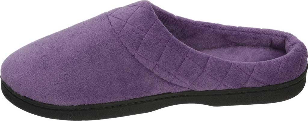 Women's Dearfoams Darcy Microfiber Velour Clog Slipper, Smokey Purple, large, image 3