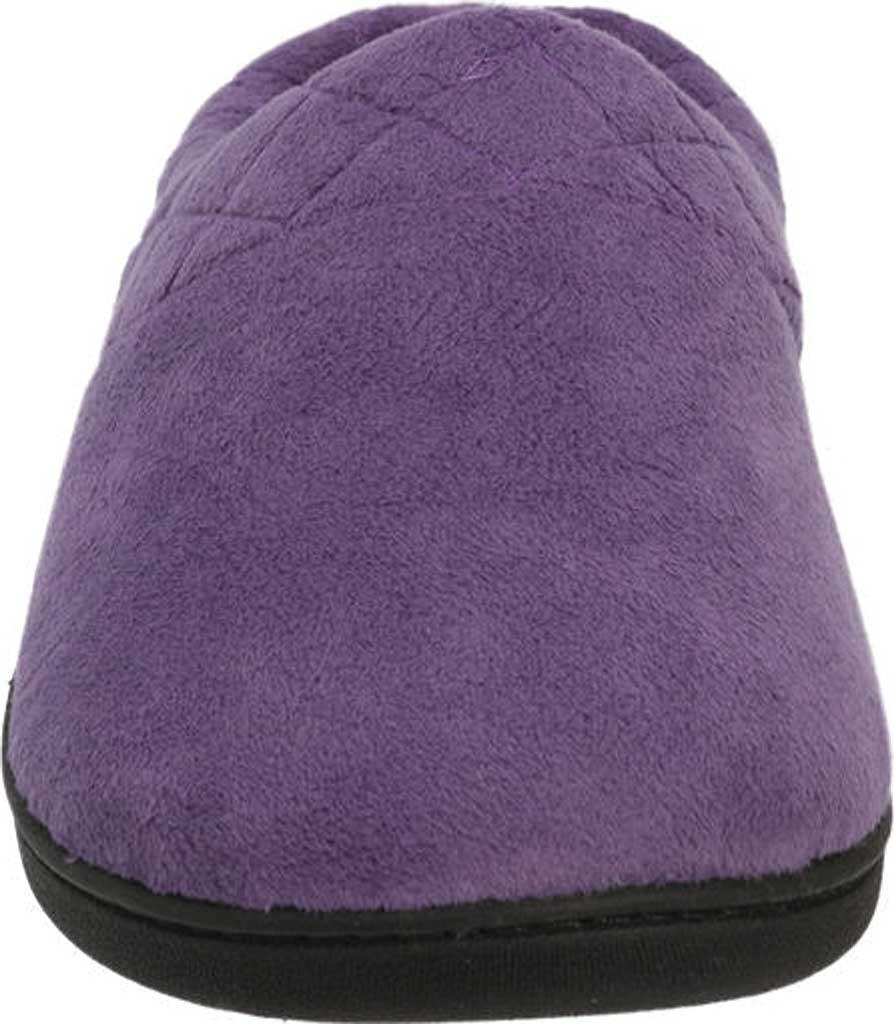 Women's Dearfoams Darcy Microfiber Velour Clog Slipper, Smokey Purple, large, image 4