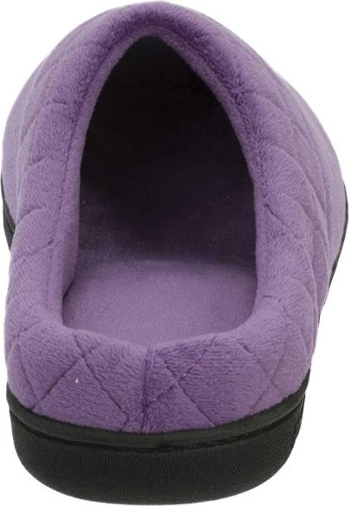 Women's Dearfoams Darcy Microfiber Velour Clog Slipper, Smokey Purple, large, image 5