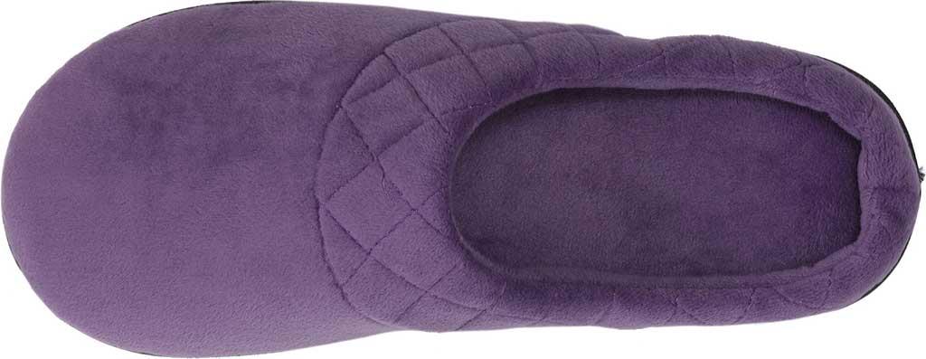 Women's Dearfoams Darcy Microfiber Velour Clog Slipper, Smokey Purple, large, image 6