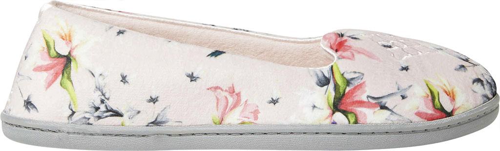 Women's Dearfoams Rebecca Microfiber Velour Closed Back Slipper, Dusty Pink Plush Microfiber, large, image 2