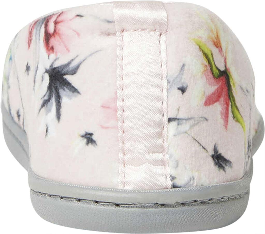 Women's Dearfoams Rebecca Microfiber Velour Closed Back Slipper, Dusty Pink Plush Microfiber, large, image 4