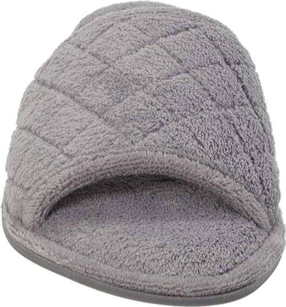 Women's Dearfoams Microfiber Terry Open Toe Slipper, Medium Grey, large, image 3