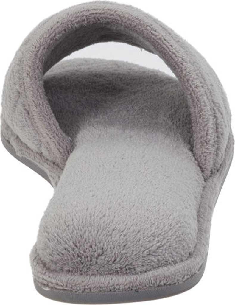 Women's Dearfoams Microfiber Terry Open Toe Slipper, Medium Grey, large, image 4