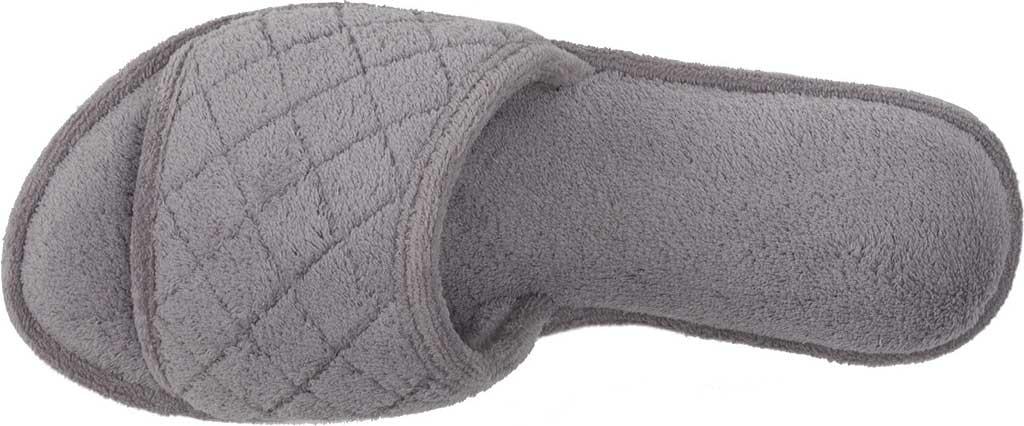 Women's Dearfoams Microfiber Terry Open Toe Slipper, Medium Grey, large, image 5