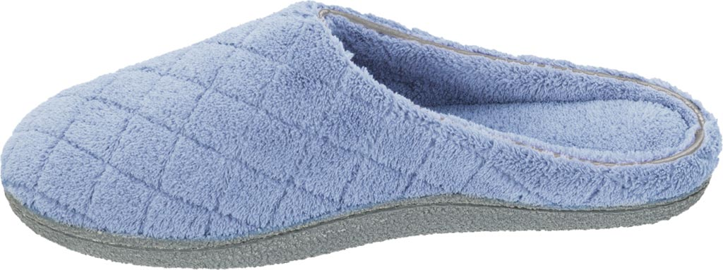 Women's Dearfoams Leslie Quilted Terry Clog Slipper, Iceberg, large, image 3