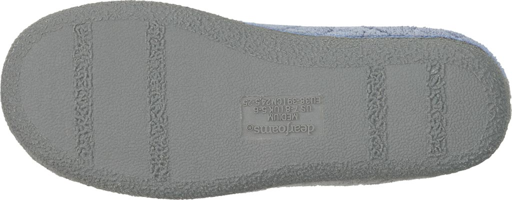 Women's Dearfoams Leslie Quilted Terry Clog Slipper, Iceberg, large, image 4