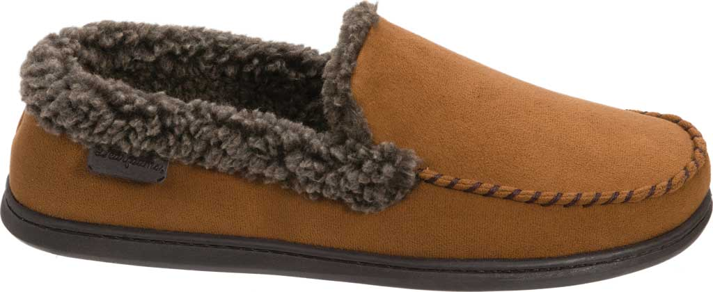 Men's Dearfoams Microsuede Whipstitch Moccasin Slipper, , large, image 2