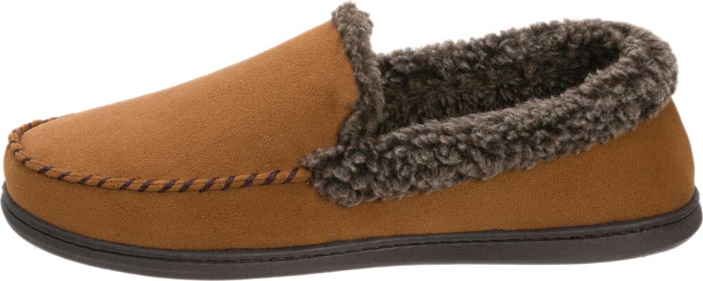 Men's Dearfoams Microsuede Whipstitch Moccasin Slipper, , large, image 3