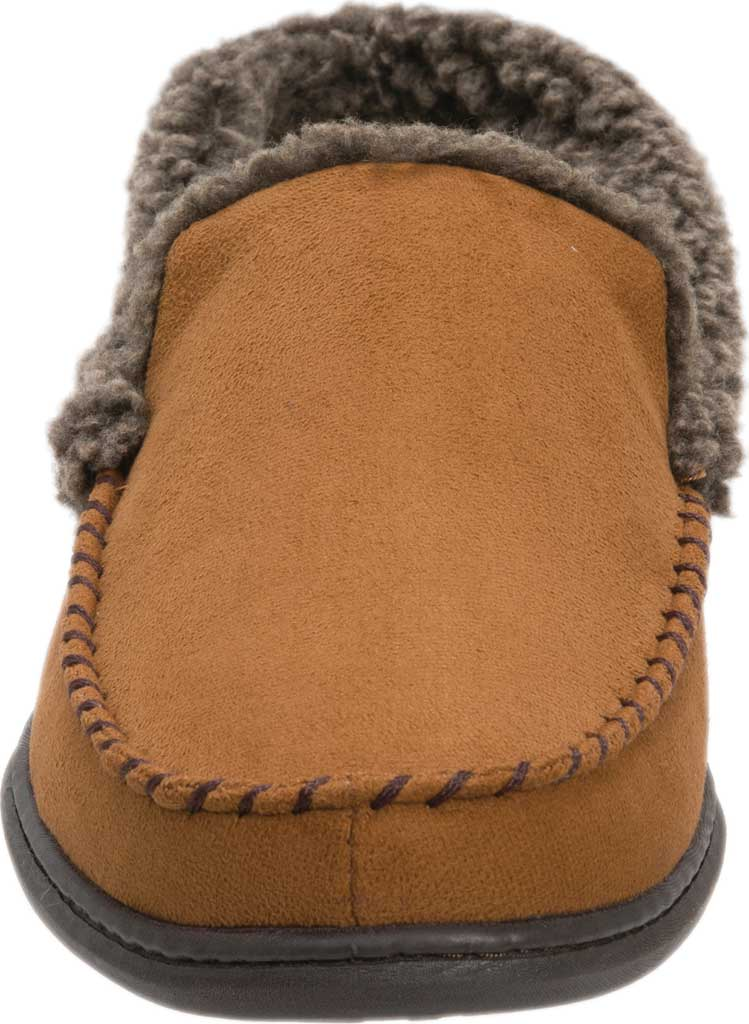 Men's Dearfoams Microsuede Whipstitch Moccasin Slipper, , large, image 4