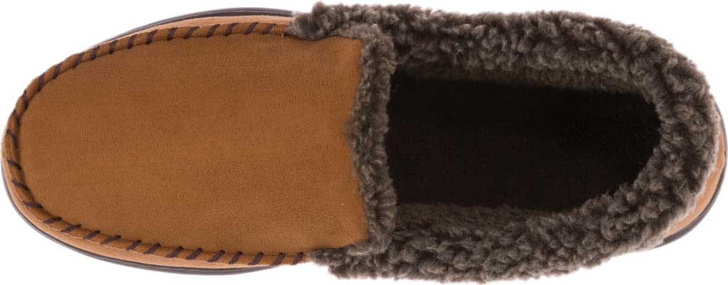 Men's Dearfoams Microsuede Whipstitch Moccasin Slipper, , large, image 6