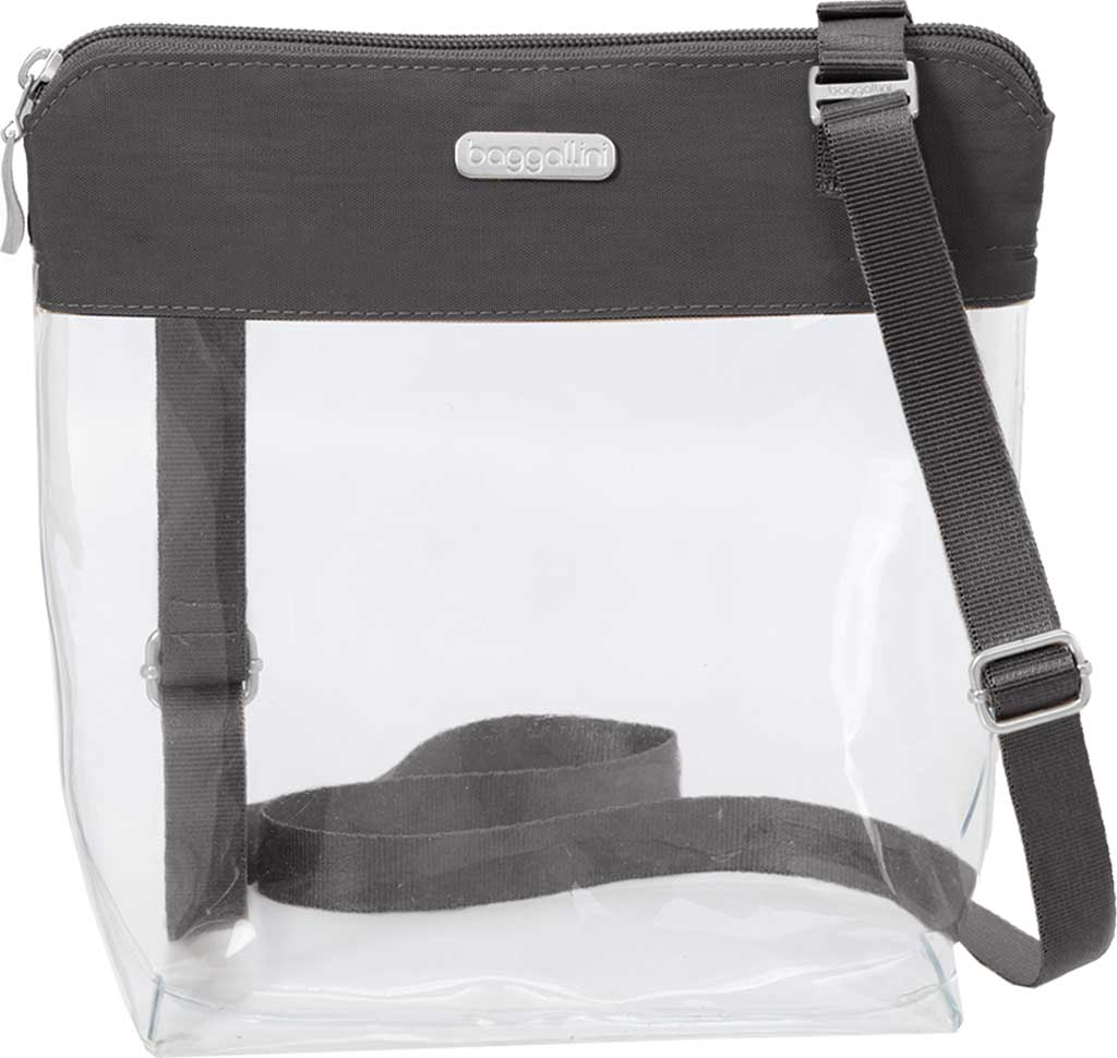 Women's baggallini Stadium Clear Pocket Crossbody, Charcoal, large, image 1