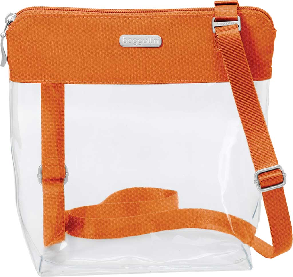 Women's baggallini Stadium Clear Pocket Crossbody, Orange, large, image 1