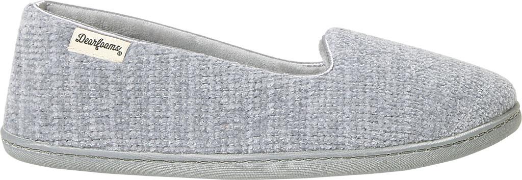 Women's Dearfoams Rebecca Chenille Closed Back Slipper, Sleet Polyester, large, image 2
