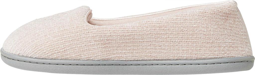Women's Dearfoams Rebecca Chenille Closed Back Slipper, Dusty Pink Chenille, large, image 3