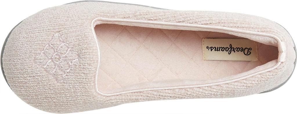 Women's Dearfoams Rebecca Chenille Closed Back Slipper, Dusty Pink Chenille, large, image 5