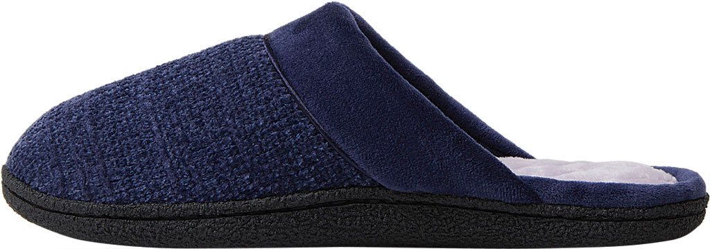 Women's Dearfoams Samantha Chenille Clog Slipper with Quilted Sock, Peacoat Polyester, large, image 3