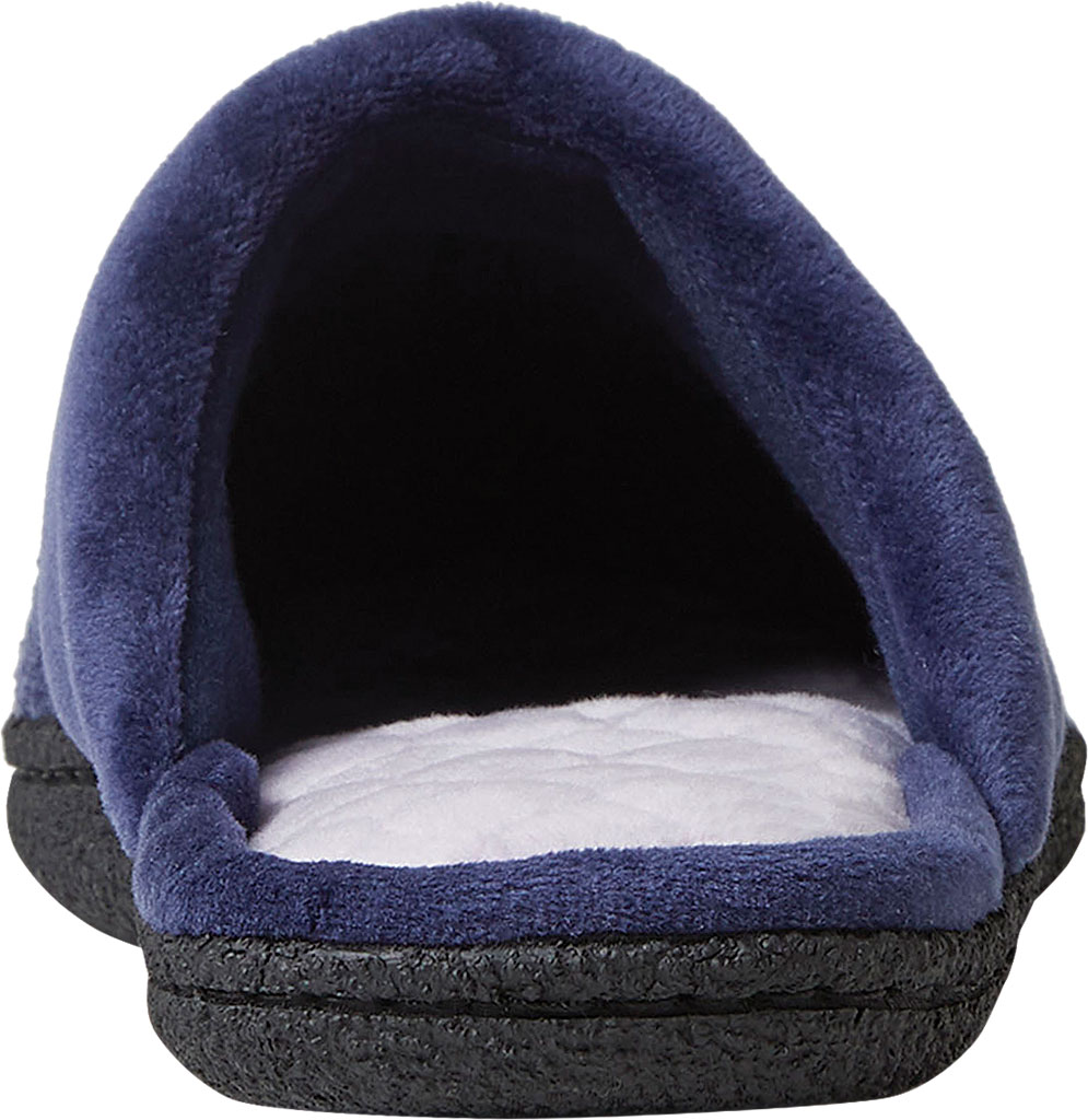 Women's Dearfoams Samantha Chenille Clog Slipper with Quilted Sock, Peacoat Polyester, large, image 4