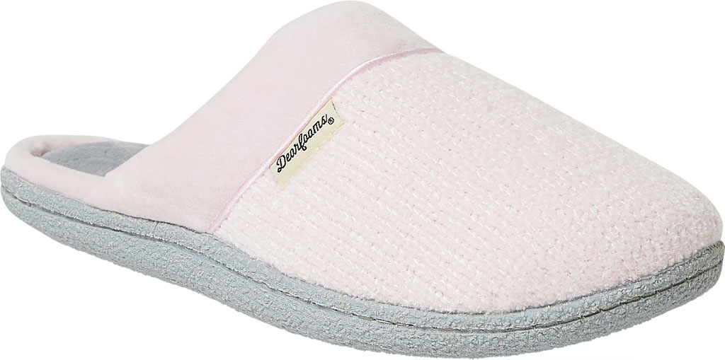 Women's Dearfoams Samantha Chenille Clog Slipper with Quilted Sock, , large, image 1