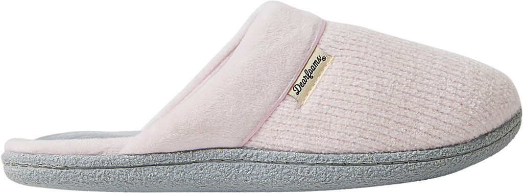 Women's Dearfoams Samantha Chenille Clog Slipper with Quilted Sock, , large, image 2