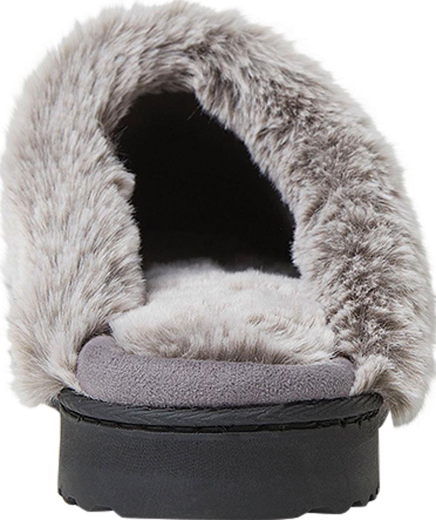 Women's Dearfoams Chenille Fuzzy Cuff Knit Scuff, Excalibur Chenille, large, image 4