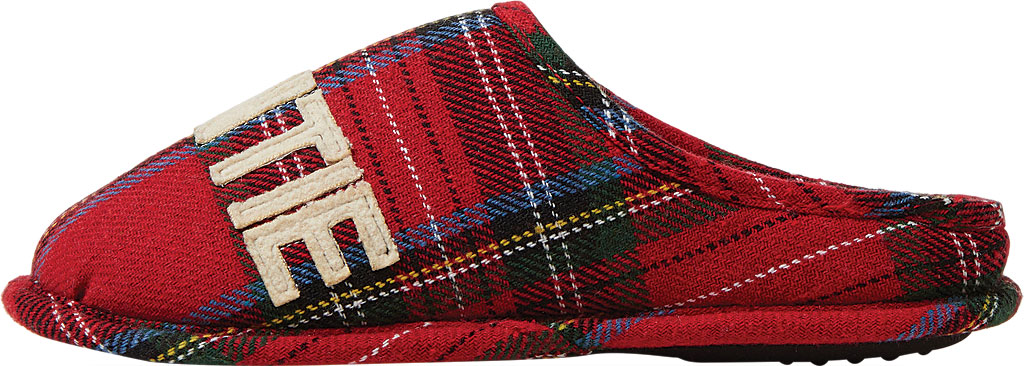Women's Dearfoams Auntie Bear Plaid Clog Slipper, Red Plaid Synthetic, large, image 3