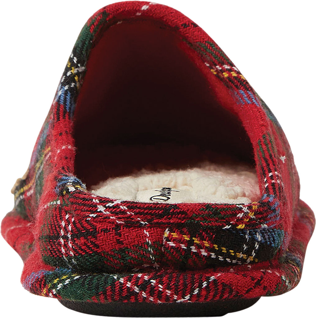 Women's Dearfoams Auntie Bear Plaid Clog Slipper, Red Plaid Synthetic, large, image 4
