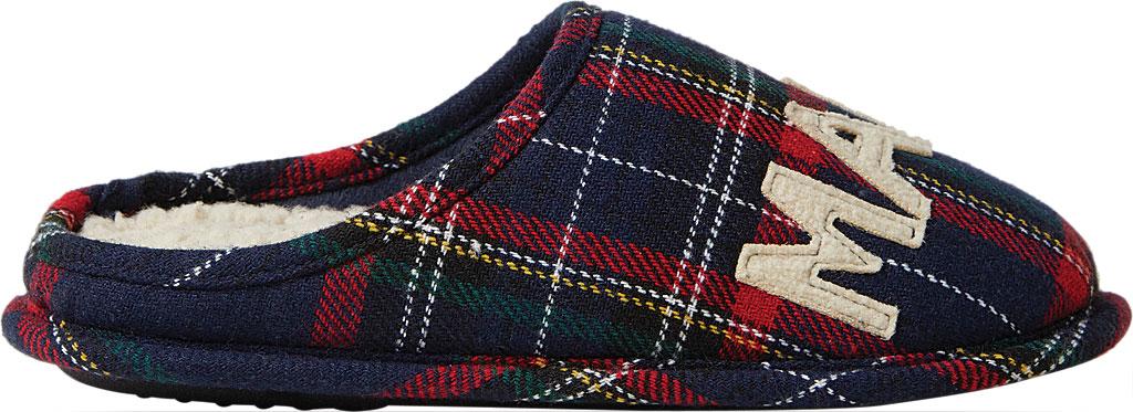 Women's Dearfoams Mama Bear Plaid Clog Slipper, Blue Plaid Synthetic, large, image 2