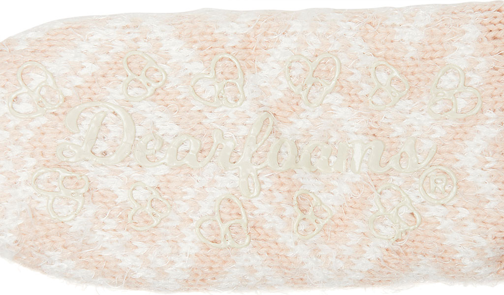 Women's Dearfoams Fairisle Knit Flurry Slipper Sock, Dusty Pink Knit, large, image 2