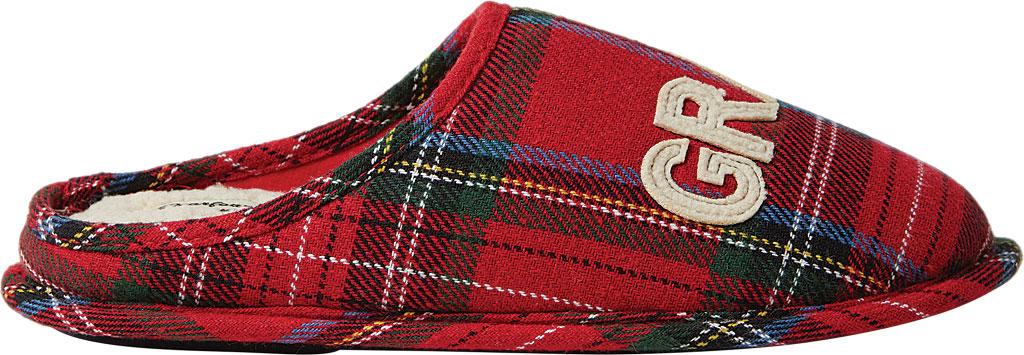 Dearfoams Grand Bear Plaid Clog Slipper, Red Plaid Synthetic, large, image 2