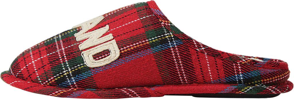 Dearfoams Grand Bear Plaid Clog Slipper, Red Plaid Synthetic, large, image 3