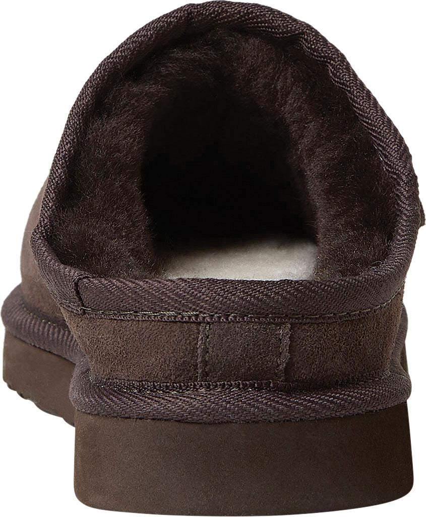 Men's Dearfoams Fireside Grafton Clog Slipper, Coffee Suede, large, image 4