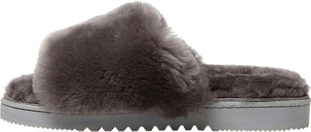 Women's Dearfoams Fireside Cairns Shearling Slide Slipper, Grey Sheepskin, large, image 3