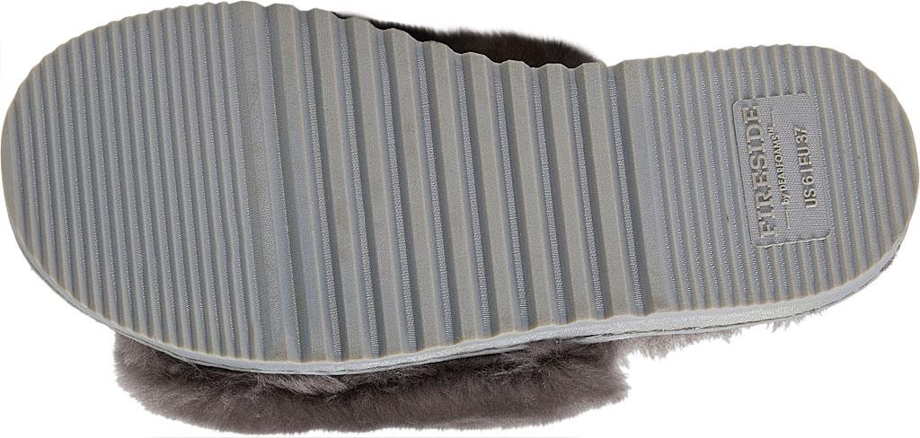 Women's Dearfoams Fireside Cairns Shearling Slide Slipper, Grey Sheepskin, large, image 6