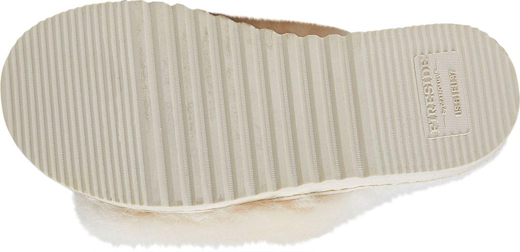 Women's Dearfoams Fireside Cairns Shearling Slide Slipper, Natural Sheepskin, large, image 6