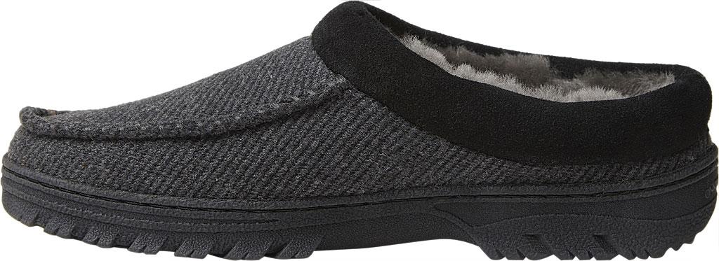 Men's Dearfoams Fireside Lith Moc Toe Clog Slipper, Black Microwool, large, image 3