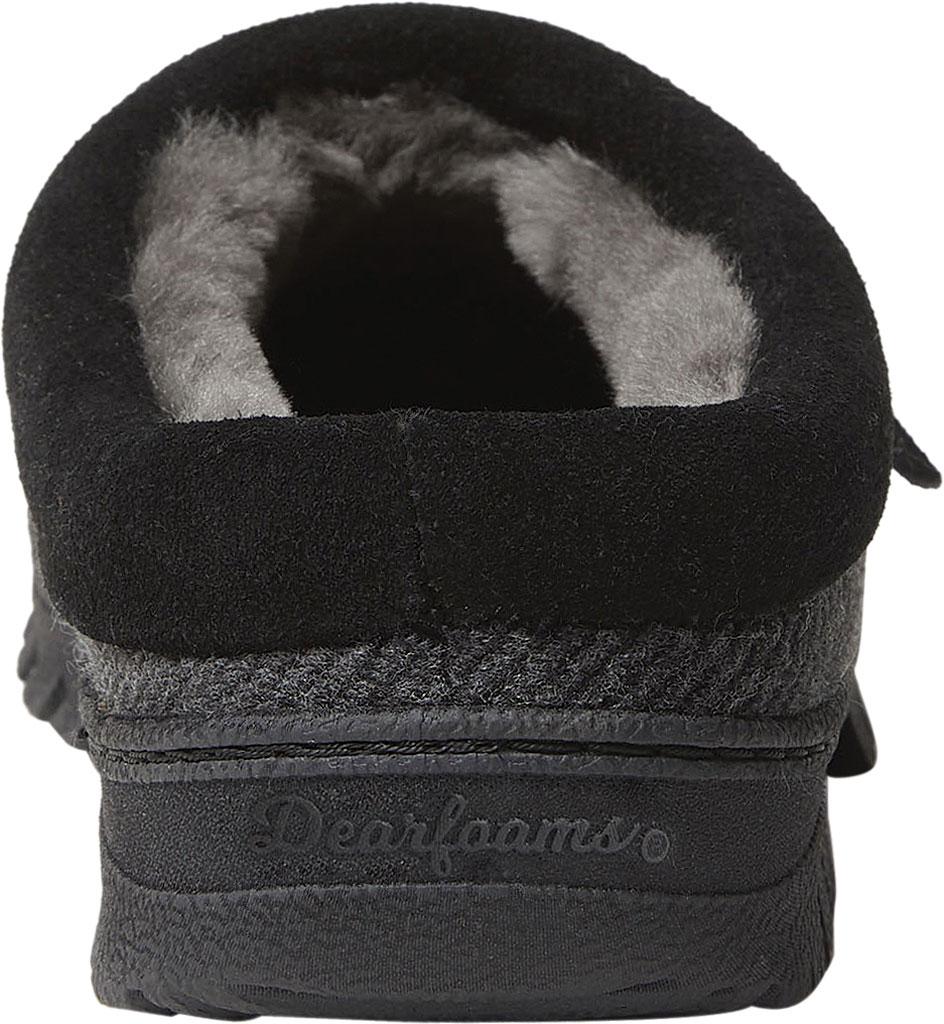Men's Dearfoams Fireside Lith Moc Toe Clog Slipper, Black Microwool, large, image 4