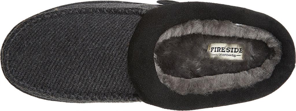 Men's Dearfoams Fireside Lith Moc Toe Clog Slipper, Black Microwool, large, image 5