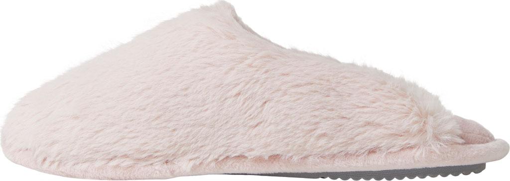 Women's Dearfoams Bailey Plush Furry Scuff, Dusty Pink Furry Textile, large, image 3