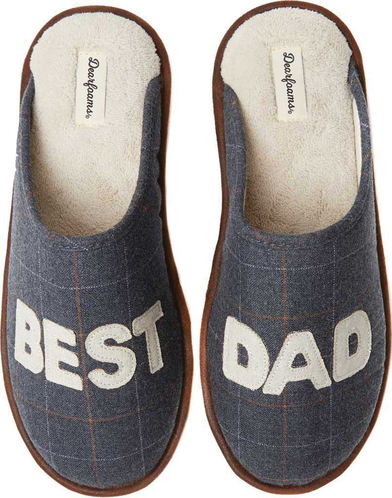 Men's Dearfoams Dad Scuff, Pavement Woven Textile, large, image 1
