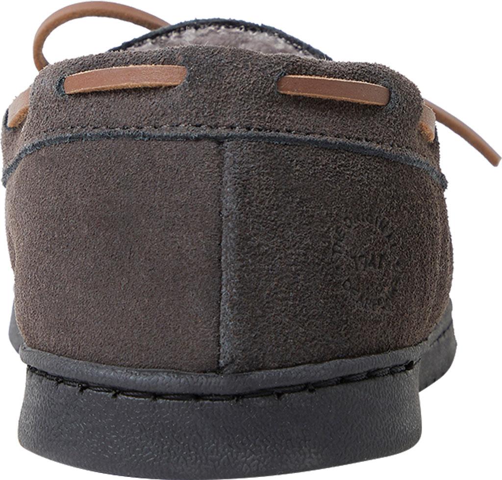 Men's Dearfoams Genuine Suede Moccasin Slipper, Grey Suede, large, image 4