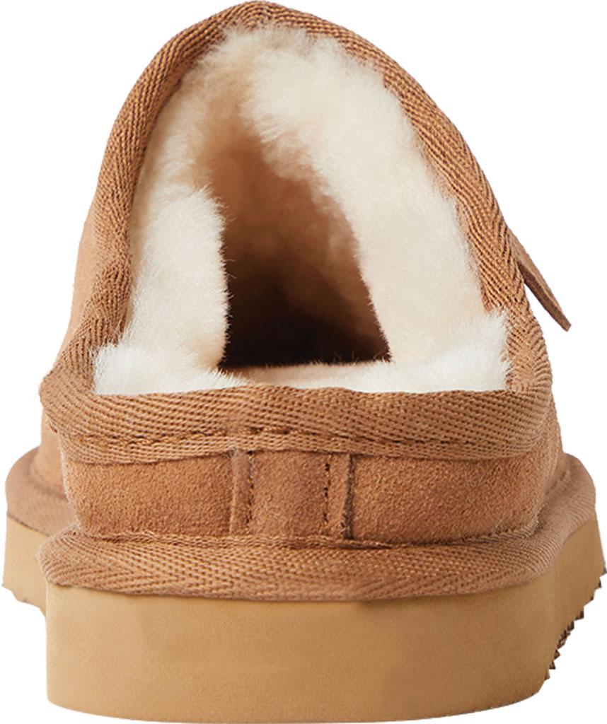 Women's Dearfoams Fireside Greta Genuine Shearling Clog Slipper, Chestnut Sheepskin, large, image 4