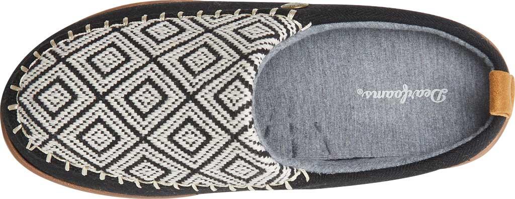 Women's Dearfoams Alpine Bern Clog Slipper, Black Microsuede, large, image 4