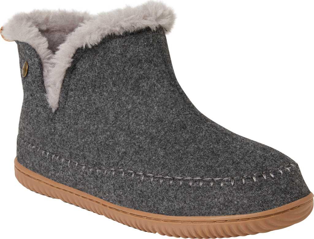 Men's Dearfoams Alpine Brixen Bootie Slipper, Dark Heather Grey Microwool, large, image 1