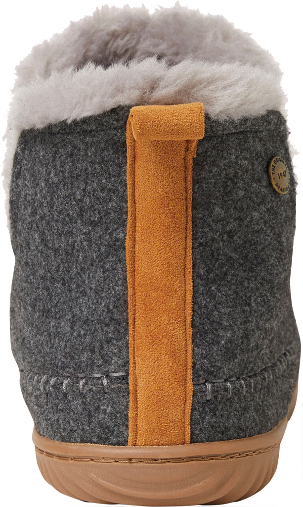 Men's Dearfoams Alpine Brixen Bootie Slipper, Dark Heather Grey Microwool, large, image 4