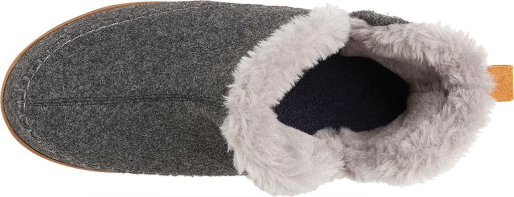 Men's Dearfoams Alpine Brixen Bootie Slipper, Dark Heather Grey Microwool, large, image 5