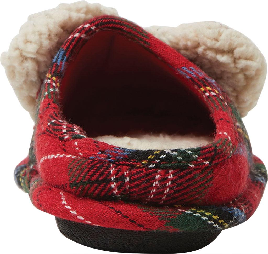 Children's Dearfoams Kids Plaid Clog Slipper, Red Plaid Big Bro, large, image 4