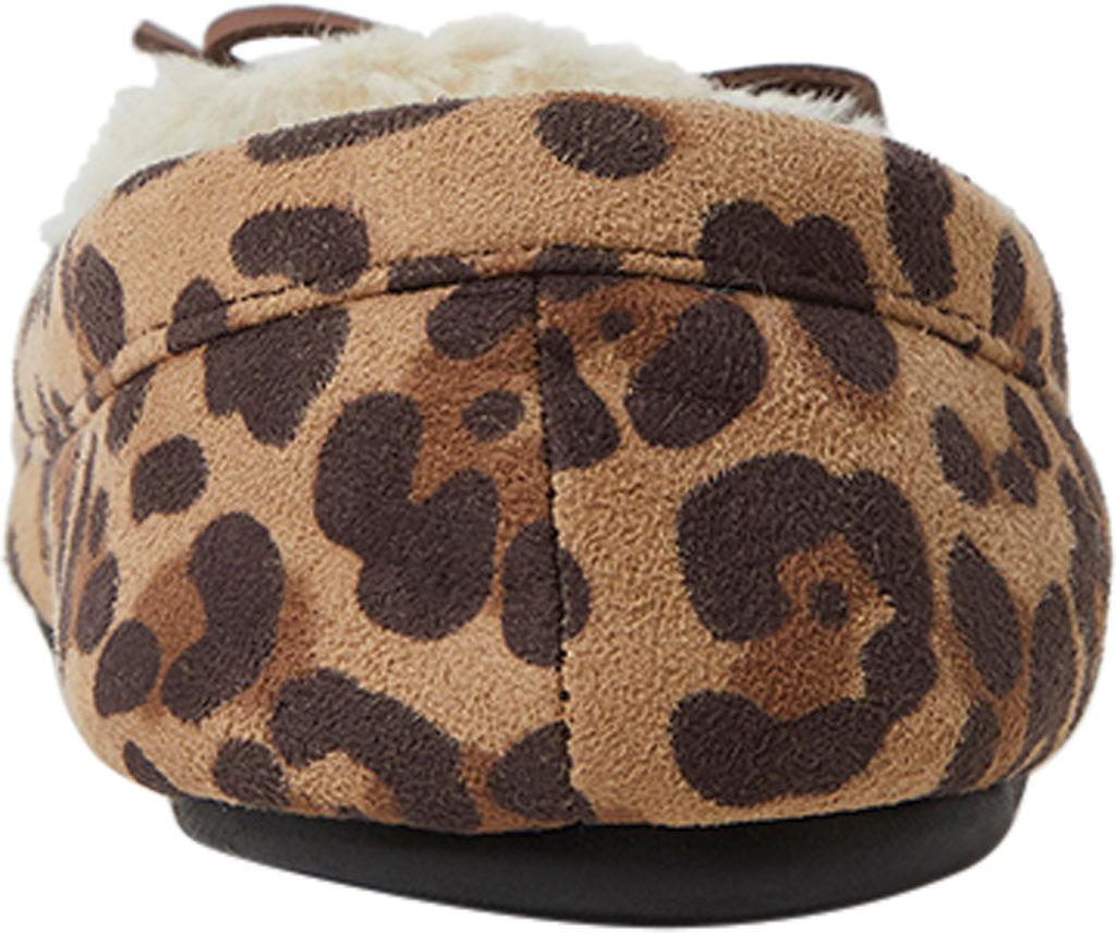 Children's Dearfoams Kids Moccasin Slipper with Bow, Leopard, large, image 4