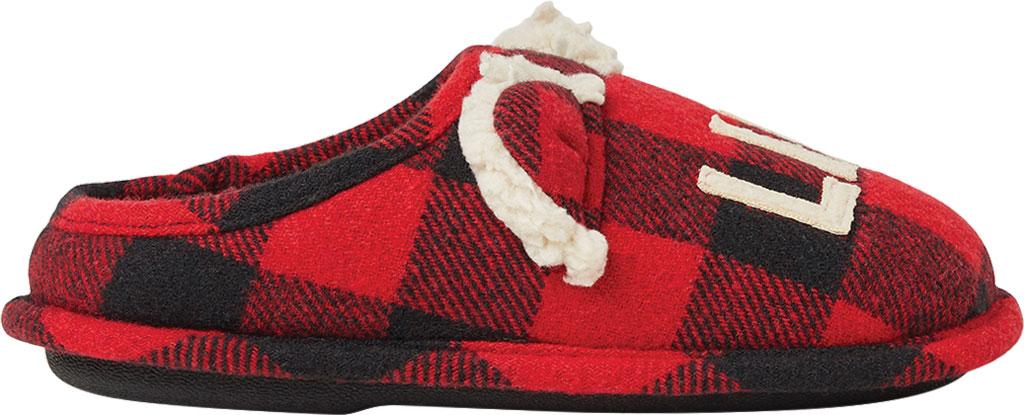 Women/'s//Ladies Footwear Tartan Open Back Mule Slippers With TPR Sole Plum Check